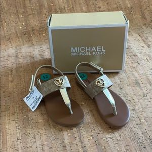 Michael Kors Gold Sandal Bentley Style, Size 12